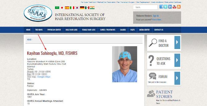 ISHRS Profil Dr. Sahinoglu